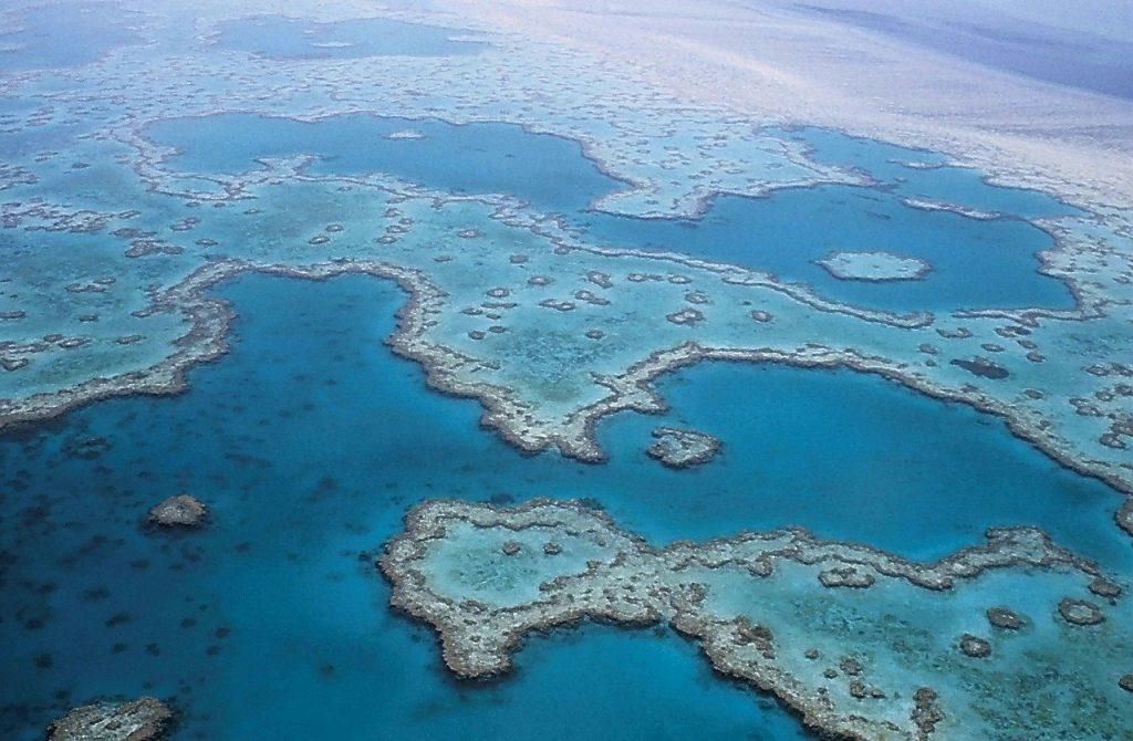 Vista aérea Barrera de coral