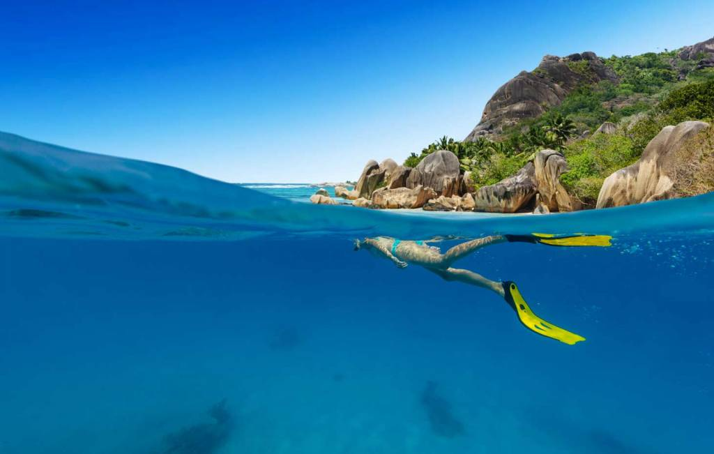 buceando en seychelles