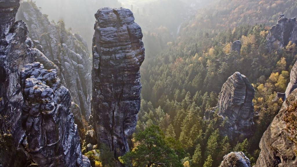 montañas de arenisca del elba